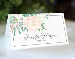 printed place cards etsy