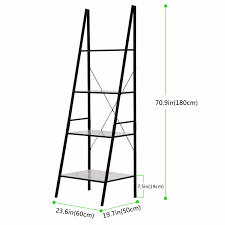 Narrow Leaning Bookcase by Lifewit 4 Shelf Ladder Bookcase Storage Rack Library Book