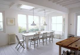 furniture lovely white dining room and kitchen decoration with