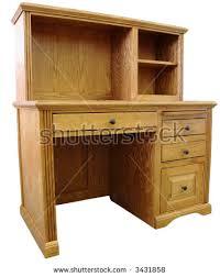 Oak Desks With Hutch Home Office Computer Desk Hutch Honey Stock Photo 3431858