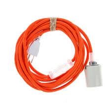 Orange Pendant Light In Pendant Light Porcelain Color Cord Company