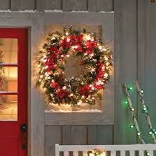 holiday time pre lit 18 christmas garland multi lights artificial christmas wreaths you ll love wayfair