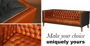made to order bespoke leather u0026 harris tweed sofa modish living
