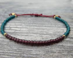 make friendship bracelet beads images Maroon and teal seed bead bracelet adjustable friendship jpg