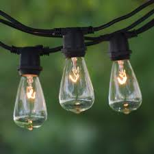 100 ft outdoor string lights 100 black c9 commercial string light vintage edison clear bulb