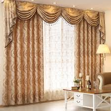 Luxury Kitchen Curtains by Online Get Cheap Luxury Curtains With Valance For Bedroom