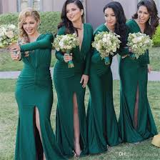 dress for bridesmaid 2017 green cheap mermaid bridesmaid dresses front split