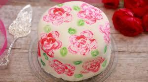 Baking Decorating Celery Stamp Rose Painted Cake Gemma U0027s Bigger Bolder Baking Ep