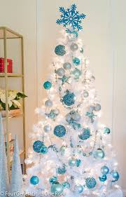 White Christmas Ornaments Walmart by Our Cute Blue White Christmas Tree Christmas Tree Christmas