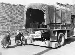 from the archives highway department said giant magnet picked up