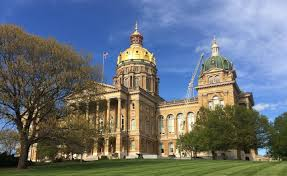 Iowa State Capitol by Scaffolding Will Soon Wrap Around Much Of Iowa Capitol Dome