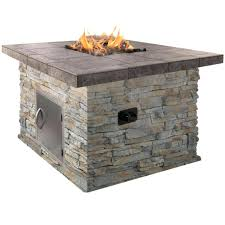 Outdoor Fire Pit Chimney Hood by Metal Drum Fire Pit 48 In Venza Cast Aluminum Round Lpg Outdoor