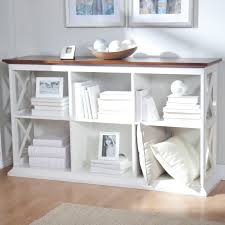 belham living hampton console table 2 shelf bookcase white oak