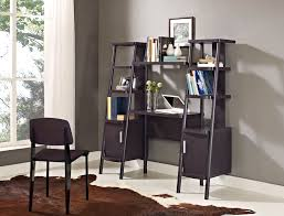 Bookcases With Ladder by Brown Ladder Bookshelf Artenzo