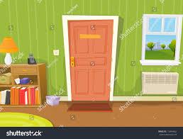 home interior living room illustration cartoon stock illustration