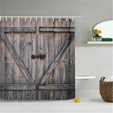 aliexpress com buy polyester shower curtain old bronze wooden