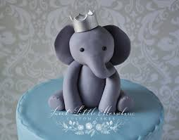 w cake topper baby boy elephant w crown cake topper sweet morsels llc