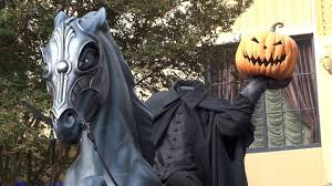 amazing headless horseman statue during halloween time 2017 at