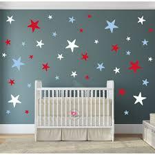 modern geometric nursery wall art sticker stars red white and blue stars modern nursery wall stickers