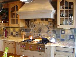 pretty mosaic tile kitchen backsplash combined with white kitchen