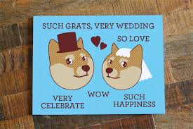 Doge Meme - funny wedding card doge such grats very wedding