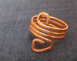 metal wire rings images Hammered wire jewelry coiled rings la caserma d 39 la c ntr ria jpg