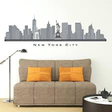 wall ideas new york skyline wall decor decor bedroom ideas new