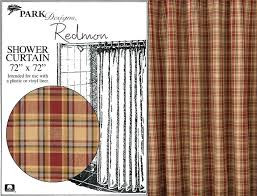 Park Designs Curtains Park Design Curtains Warm Country Plaid Shower Curtain In Pattern
