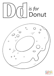 letter d is for donut coloring page free printable coloring pages