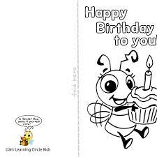printable birthday card decorations diy free printable birthday card for kids to decorate and write in