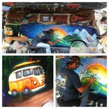 volkswagen bus tattoo van painting drew brophy surf lifestyle art