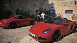 watch dario franchitti and cj wilson drive the new porsche 718 gts