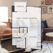 Studio Apartment Floor Plans Apartments For Rent In Hollywood Floor Plan 3 Eastown Apartments