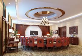3d spacious dining room with round table cgtrader