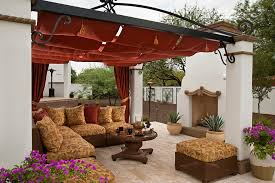 contemporary outdoor fabric with beige outdoor cushions patio