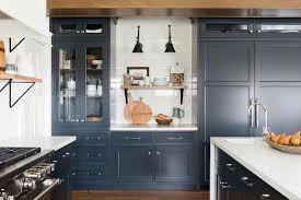 navy blue kitchen cabinet design blue kitchen cabinets design ideas