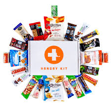 sick person care package hangry kit essential kit sweet and salty snack care package