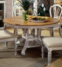 excellent light round rustic wooden vintage dining table