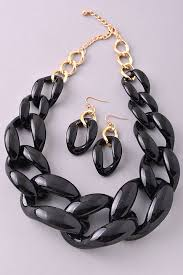 black chain link necklace images Acrylic chain link necklace set back in stock jpg