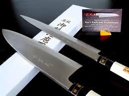 2 knife set jikko standard sashimi yanagiba u0026 deba japanese