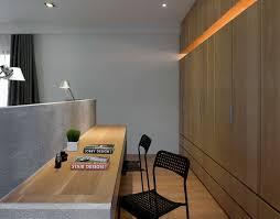 bedroom design idea a desk built into the back of the headboard