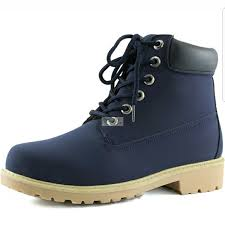 womens boots navy blue s boots lace up combat boot navy blue color from oh sea s