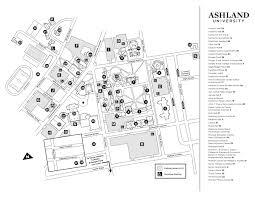 Map Of Ohio University by Main Campus Map Administration Ashland University
