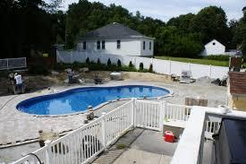 modern inground swimming pool design in backyard house ceramic