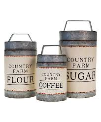 Rustic Kitchen Canister Sets - another great find on zulily coffee sugar u0026 flour canister set