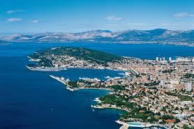 Split by The Town Of Split In Croatia Peninsula Of Marjan