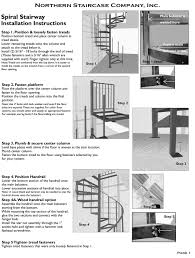 installation instructions metal spiral stairs