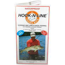 hook n line map f133 copano bay wade fishing map with gps