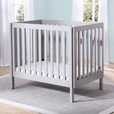 Baby Mini Cribs Delta Children Bennington Elite Mini Crib With Mattress Grey