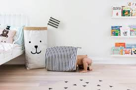 monochrome scandinavian toy storage happy grey lucky